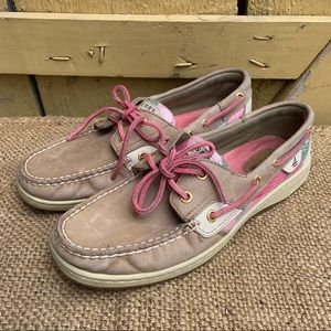 Sperry Top-Sider Women Boat Dock Shoes Tan Leather